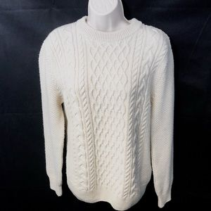 Zara Man Cable Knit Pullover Sweater Size M